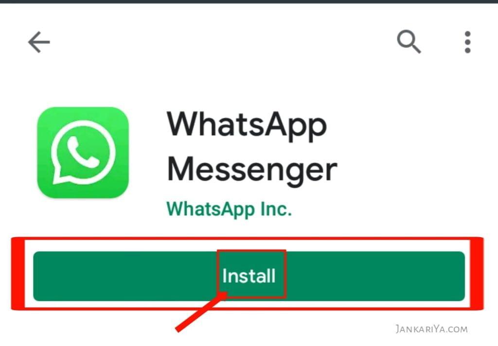 WhatsApp Messenger App Install