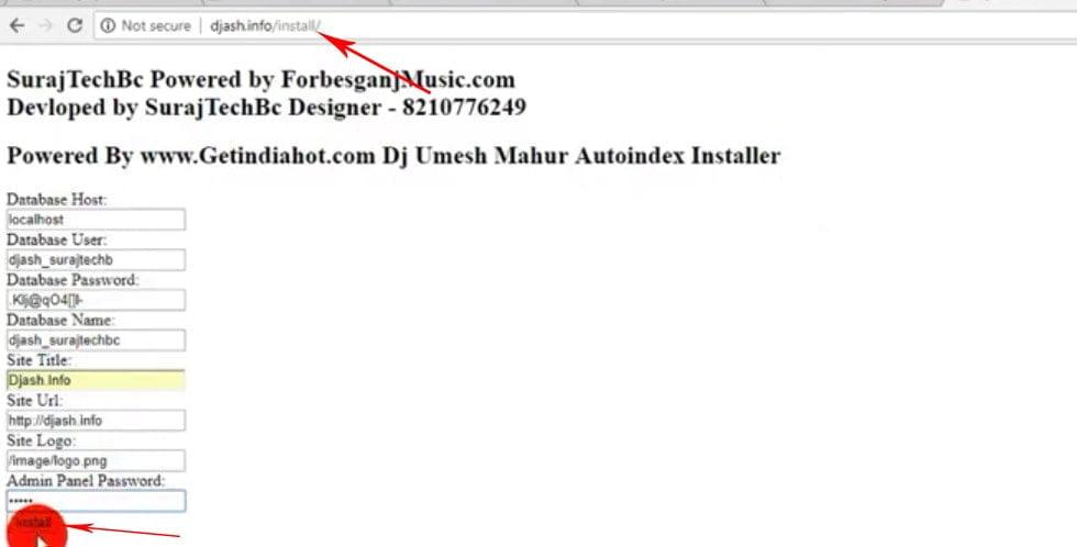 installing form