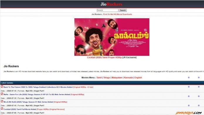 Jio Rockers Site Screenshot