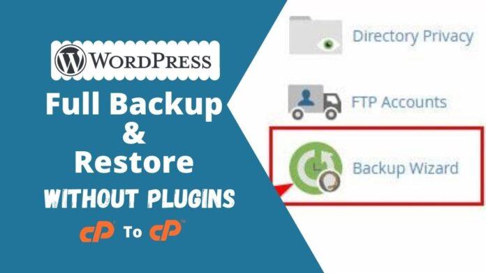 Without Plugins WordPress Backup