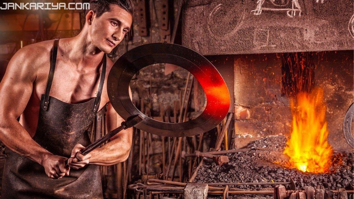 पिटवां लोहा(Wrought iron)