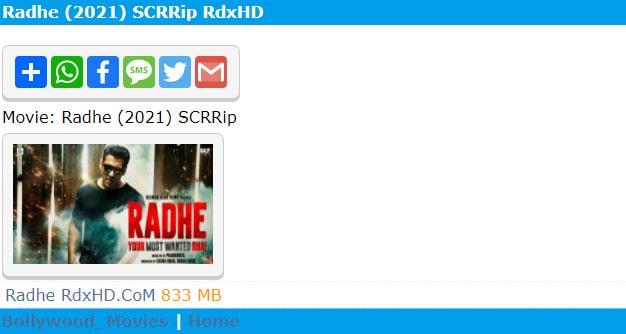 Radhe Hindi Movies
